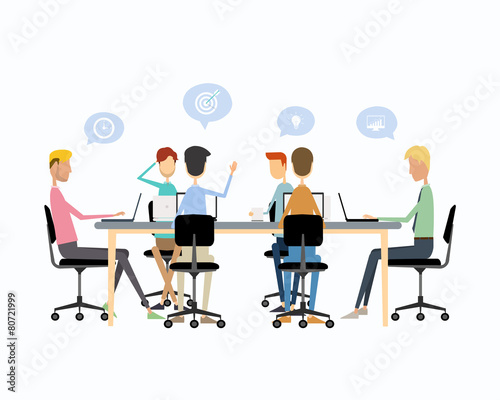business teamwork meeting  brainstorm and  talking on work - 80721999