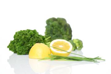Zitrone Petersilie Brokolli