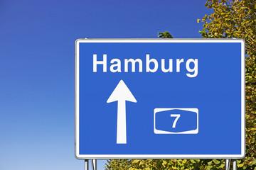 Schild A7 Richtung HH