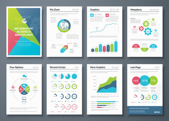 Infographic brochures and business graphic elements