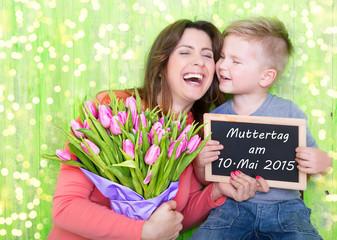 Muttertag 2015 Tafel Mama mit Kind