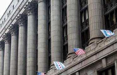 Massive Columns on Chicago Building