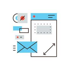 Brand identity flat line icon concept