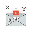 Viral media marketing flat line icon concept