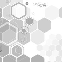 Abstract background hexagon. Vector