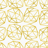 Fototapety Abstract Polygons Seamless Pattern