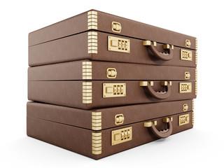 Vintage briefcase stack