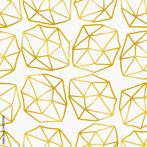 Abstract Polygons Seamless Pattern - 80723918
