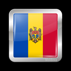 Flag of Moldova. Metal Icons