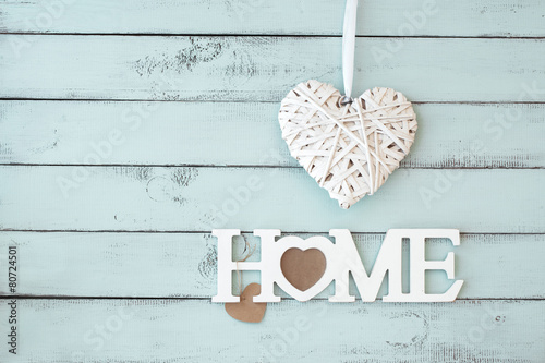 Leinwandbild Motiv Sweet home