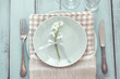 Shabby chic table setting - 80724724