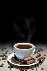 Hot Black Coffee Good Way to Start the Day