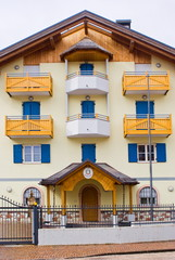 Typical alpine police barracks, Italy
