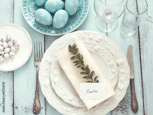 Easter table setting - 80724741