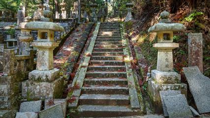 Cemetery at Okunoin Temple in Mt. Koya, Wakayam, Japan