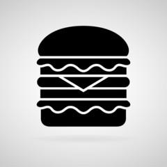 Hamburger vector and icon, EPS10