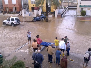 inundation in the town