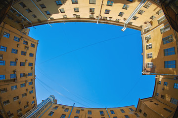 Old courtyards and buildings in the center of St. Petersburg