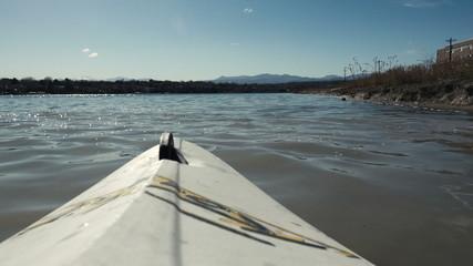Lake Kayaking POV Kayak View