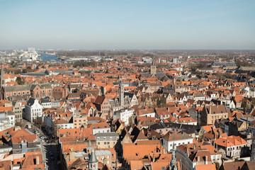 Overview of Bruges, Belgium