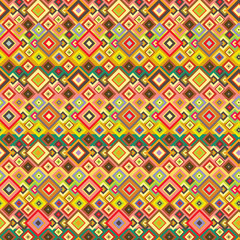 Seamless hippie pattern with geometric elements