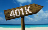 401k sign on the beach poster