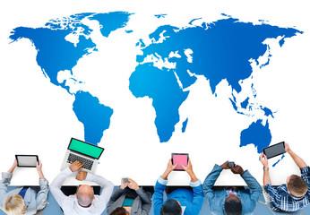 World Global Cartography Globalization Earth International Conce