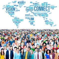 Global Communication Connect Worldwide Link Share Concept