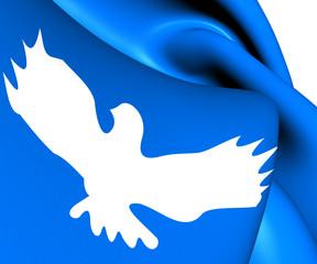 Flag of Sloviansk, Donetsk Oblast.