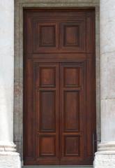 door of Saint Pierre Cathedral in Geneva switzerland