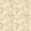 Beige seamless floral pattern. Vector illustration.