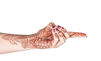 Vajra mudra with henna