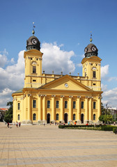 Great Reformed Church in Debrecen in Debrecen. Hungary