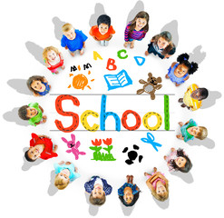 Children School Education Study Concept