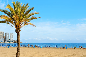 Levante Beach, in Benidorm, Spain