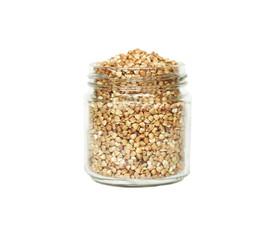 Bank with buckwheat