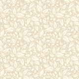 Fototapety Seamless beige floral pattern. Vector illustration.