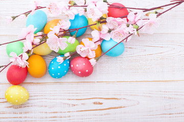 Easter eggs. Holiday background