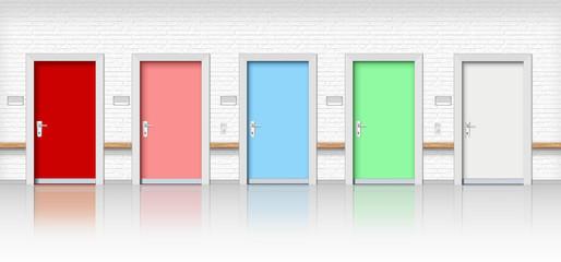 Türen, Türreihe Behörde, Warteraum