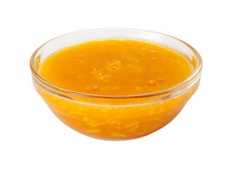 Mango Coconut Marinadein in a Glass Bowl