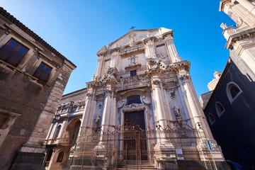 Street Scene Catania, Sicily, Italian Island.