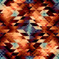 Grunge geometric pattern in aztecs style.