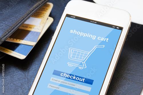 mobile shopping concept - 80733565
