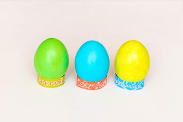 Крашенные яйца на Пасху на подставке
