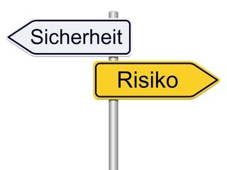 Sicherheit und risiko