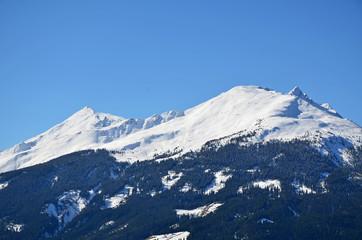 berg mit schnee, alpen
