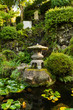 Traditional japanese garden with pond