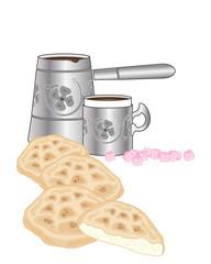 turkish bread and coffee