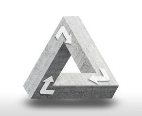 Tribar unendliches Dreieck aus Beton
