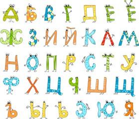 Russian cartoon alphabet